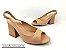 Peep Toe Chanel Nude Antique Salto Bloco Flare 8 cm - Imagem 1