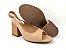 Peep Toe Chanel Nude Antique Salto Bloco Flare 8 cm - Imagem 5