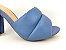 Tamanco Soft Azul Safira Salto Meio Bloco 9 cm - Imagem 8