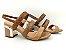 Sandália Snake Antique Salto Ouro Bloco 7 cm - Imagem 3