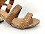 Sandália Snake Antique Salto Ouro Bloco 7 cm - Imagem 8