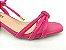 Sandália Tira Fina Luxo Rosa Salto Flare 5 cm - Imagem 8