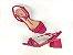 Sandália Tira Fina Luxo Rosa Salto Flare 5 cm - Imagem 7