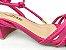 Sandália Tira Fina Luxo Rosa Salto Flare 5 cm - Imagem 3
