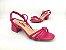 Sandália Tira Fina Luxo Rosa Salto Flare 5 cm - Imagem 5