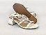 Sandália Spike Metalizado Branca Salto 5 cm - Imagem 6