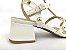 Sandália Spike Metalizado Branca Salto 5 cm - Imagem 2