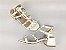 Sandália Spike Metalizado Branca Salto 5 cm - Imagem 7