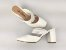 Scarpin Mule Branco Texturizado Salto 9 cm - Imagem 7