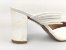 Scarpin Mule Branco Texturizado Salto 9 cm - Imagem 3