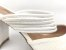 Scarpin Mule Branco Texturizado Salto 9 cm - Imagem 9