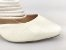 Scarpin Mule Branco Texturizado Salto 9 cm - Imagem 8
