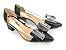 Scarpin Preto com Transparência Laço Grande Salto Bloco 5 cm - Imagem 6