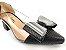 Scarpin Preto com Transparência Laço Grande Salto Bloco 5 cm - Imagem 5