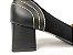 Scarpin Clássico Pesponto Preto Salto Bloco 5 cm - Imagem 3
