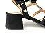 Sandália Spike Metalizado Nobuck Preta Salto 5 cm - Imagem 2