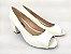 Peep Toe Clássico Branco Salto Bloco 6 cm - Imagem 3