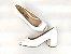 Peep Toe Clássico Branco Salto Bloco 6 cm - Imagem 6