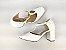 Sandália Scarpin Branca com Textura Salto 8 cm - Imagem 8