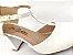 Sandália Scarpin Branca com Textura Salto 8 cm - Imagem 4