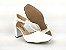 Sandália Scarpin Branca com Textura Salto 8 cm - Imagem 7