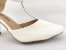 Sandália Scarpin Branca com Textura Salto 8 cm - Imagem 9