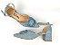 Sandália Scarpin Jeans Claro com Fivela Salto 5 cm - Imagem 5