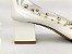 Scarpin Branco com Transparência Spike Metalizado Salto Bloco 5 cm - Imagem 2
