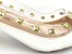 Scarpin Branco com Transparência Spike Metalizado Salto Bloco 5 cm - Imagem 9