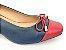 Scarpin Básico Azul Marinho com Vermelho Salto 4 cm - Imagem 8