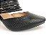 Scarpin Mule Preto Texturizado Salto 9 cm - Imagem 4