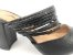 Scarpin Mule Preto Texturizado Salto 9 cm - Imagem 9