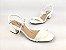 Sandália Tira Fina Luxo Branca Salto Flare 5 cm - Imagem 6
