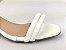 Sandália Tira Fina Luxo Branca Salto Flare 5 cm - Imagem 3