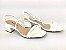 Sandália Tira Fina Luxo Branca Salto Flare 5 cm - Imagem 8