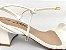 Sandália Tira Fina Luxo Branca Salto Flare 5 cm - Imagem 9