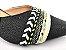 Sandália Scarpin Têxtil Preta com Cordões Salto Bloco 6 cm - Imagem 2