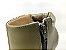 Bota Cano Baixo Diamante Verde Militar Salto Textura em Verniz 9 cm - Imagem 9
