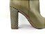Bota Cano Baixo Diamante Verde Militar Salto Textura em Verniz 9 cm - Imagem 7