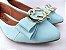 Sapatilha Azul Bebê com Acessório Argolas - Imagem 2