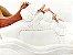 Tênis Chunky Sneaker Branco com Caramelo Solado 6 cm - Imagem 4