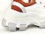 Tênis Chunky Sneaker Branco com Caramelo Solado 6 cm - Imagem 5