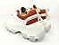 Tênis Chunky Sneaker Branco com Caramelo Solado 6 cm - Imagem 8