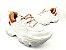 Tênis Chunky Sneaker Branco com Caramelo Solado 6 cm - Imagem 1