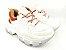 Tênis Chunky Sneaker Branco com Caramelo Solado 6 cm - Imagem 10