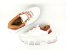 Tênis Chunky Sneaker Branco com Caramelo Solado 6 cm - Imagem 7