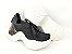 Tênis Chunky Sneaker Preto Clássico Trabalhado em Tecido Solado 5 cm - Imagem 8