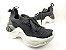 Tênis Chunky Sneaker Preto Clássico Trabalhado em Tecido Solado 5 cm - Imagem 2