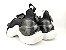Tênis Chunky Sneaker Preto Clássico Trabalhado em Tecido Solado 5 cm - Imagem 7