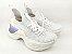 Tênis Chunky Sneaker Branco com Brilho em Tecido Solado 5 cm - Imagem 10